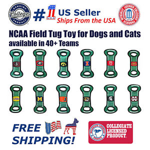 NCAA Football Field Toy for DOGS & CATS. Heavy-Duty, Durable toys with Squeakers