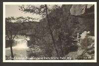 Unused Postcard Real Photo Trail Scene Cumberland Falls State Park Kentucky KY