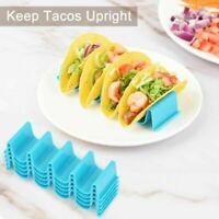 4Pcs Food Kitchen Hard Rack Stand Taco Holder Mexican Wave Shape Cooking Tool