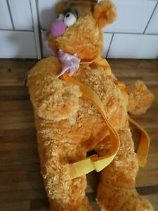 FOZZIE BEAR Plush Bag Backpack Rucksack DISNEY STORE Stamp The Muppets, Tags.