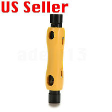 Coaxial Cable Cutter Stripper Coax for RG6 RG59 RG7 RG11 Cat5/6eMO