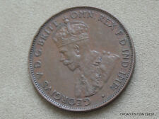 1936 HALFPENNY SCARCER IN CONDITION COIN 8 PEARLS FULL DIAMOND PREDECIMAL #GGLA6