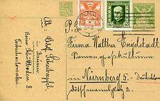 Ganzsache mit Zusatzfrankatur/Letter TSCHECHOSLOWAKEI/CESKOSLOVENSKA (1926)