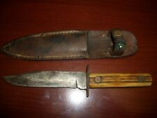 Vintage UTICA STYLE  fixed thick blade knife hunting fishing