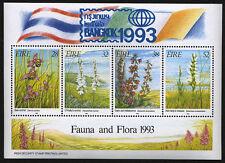Ireland Fauna & Flora 1993 Souvenir Sheet w/ Bangkok 1993 Overprint Sc# 894b