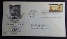 1962 CACHET FIRST DAY COVER DAG HAMMARSKJOLD SG UNITED NATIONS NEW YORK NY #1203