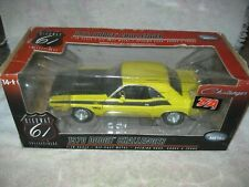 ERTL Highway 61 1970 Dodge Challenger T/A 340 6 Pack YELLOW With Box 1/18 Scale