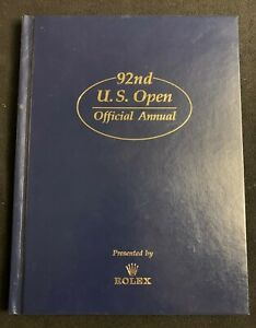92nd US Open Golf Championship Official Annual 1992 Rolex Pebble Beach Tom Kite