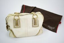 Genuine Coach Canvas Tote Bag - SOHO Ivory Gold Python 10737