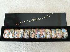 12 Gustav Klimt Porzellan Serviettenringe  Neu  OVP