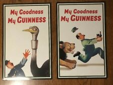 Guinness Poster Lot (2) My Goodness My Guinness Man Cave 2015 Free Shipping!