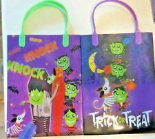 2 X HALLOWEEN LOOT BAGS - Childrens Kids Gift Party Trick Treats Sweets Candy