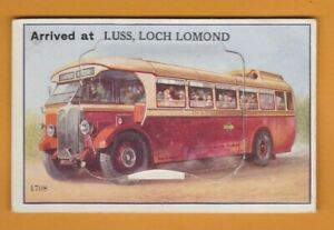 Scotland- Bus-  Arrived at Luss, Loch Lomond   Novelty Pull out  Postcard