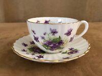 Radfords vintage china tea cup & saucer porcelain coffee purple floral violets