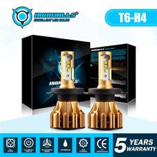 CREE H4 HB2 9003 LED Headlights Kit 1700W 255000LM High Low Bulbs 6000K HID Pair