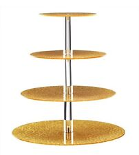 3 Tier Round  Wedding Cake Stand Cupcake Tower Dessert Food Display Holder GOLD