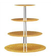 3 Tier Round  Wedding Cake Stand Cupcake Tower Dessert Food Display Holder GOLD