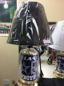 NFL DESK LAMP----DALLAS COWBOYS (WHITE SHADE AVAILABLE ONLY)