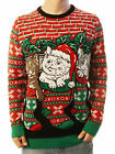 Ugly Christmas Party Sweater Unisex Men's Cats Kittens Stocking Stuffers