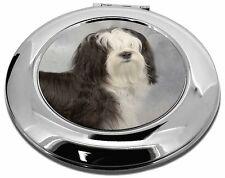 Tibetan Terrier Dog Make-Up Round Compact Mirror Christmas Gift, AD-TT3CMR