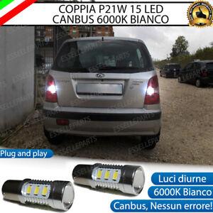 COPPIA LAMPADE RETROMARCIA 15 LED P21W CANBUS HYUNDAI ATOS NO ERROR