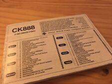 Nissan CK888 autoradio cassette notice utilisation mode d' emploi