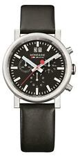 Mondaine Evo Big Stainless Steel Black Leather Mens Chronograph A690.30304.14SBB