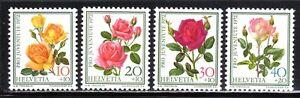 1972 Switzerland SC# B410 - B413 - Famous Roses - M-H