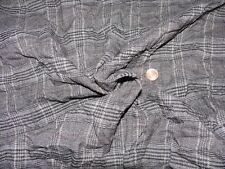 edler Karo Crash Knitter Stoff Stoffrest Baumwollmischung grau 5,90 m x 1,40 m