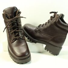 LL Bean Hiking Boot Ankle High Sz 9M Brown Pebble Leather Work Shoe Walking 9604