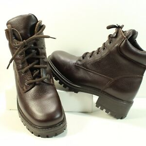 Hiking Boot Ankle High Brown Pebble Leather LL Bean Sz 9M Walking/Work Shoe