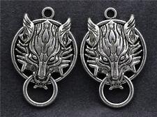 2/8/50pcs Tibet Silver/Bronze pretty Wolf Head Jewelry Charm pendant DIY 40x27mm