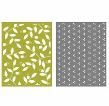 Lifestyle Crafts GooseBumpz, Double Pack, A2 Embossing Folders SPRIG ~ EF0032