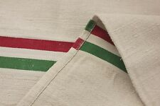 Vintage European mattress daybed cover Christmas Italian flag stripes! Green red