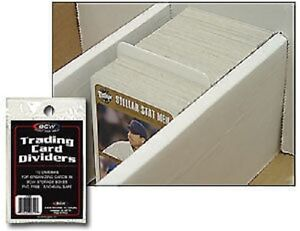 (10-ct Pack) BCW Trading Card Dividers - White Heavy Duty With Write On Surface