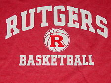 RUTGERS University Scarlet Knights  BASKETBALL T-Shirt NEW..sz...... LARGE