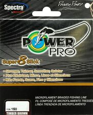 TRESSE POWERPRO-SUPER 8 SLICK 10lb-150YD-135m-15/100-5kg MARRON POWER PRO BRAID