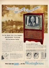 """1952 Westinghouse Cabinet Television TV   21"""" Welburn  PRINT AD"""
