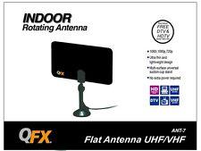 NEW QFX ANT-7 HD/DTV/UHF/VHF/FM Flat Indoor Antenna Ultra Thin & Lightweight