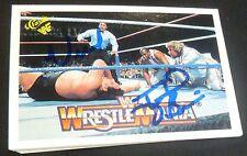 Million Dollar Man Ted DiBiase Virgil Signed 1990 Classic Wrestlemania WWF Card