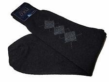 Polo Ralph Lauren Lambswool Black Silver Argyle Wool Blend Socks