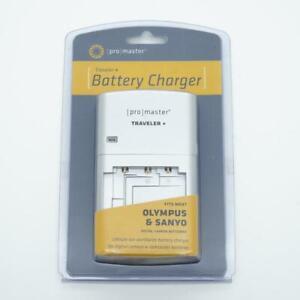 Promaster Traveler+ Battery Charger: Most Olympus/Sanyo Digital Camera Batteries