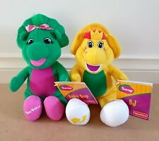 Set Of 2 X Barney & Friends – Baby Bop & BJ Plush Soft Toys New With Tags