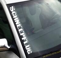 Schneepflug Aufkleber Winterhobel Sticker Winteraufkleber Winterautoaufkleber
