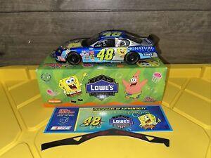 1:24 Scale 2003 Jimmie Johnson Lowe's Spongebob Squarepants Nickelodeon Car