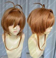 Card Captor Cosplay Wigs Magic Card Girl Cherry Sakura Kinomoto Golden Brown Wig