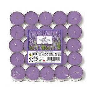 LAVENDER  Fragranced Scented Tealights Tea Light Candles Pack of 25