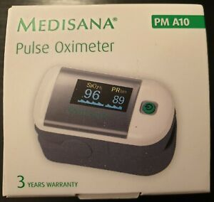Medisana Pulse Oximeter PM A10 Measures Blood Oxygen & Heart Rate FREE SHIPPING!