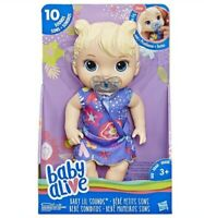 BABY ALIVE LIL SOUNDS INTERACTIVE PLAY DOLL GIGGLES CRIES BABBLES BLONDE HAIR