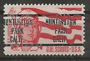 CALIFORNIA PRECANCELS, 3c GIRL SCOUTS, HUNTINGTON PARK, TYPE 240